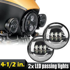 """2x 4-1/2"""" LED Daymaker Auxiliary Spot Passing Lights Fit Harley Davidson Touring"""