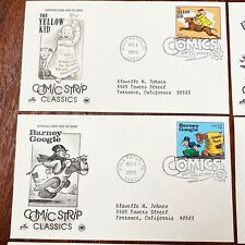 1995 COMIC STRIP CLASSICS First Day of Issue Covers LOT OF 10 STAMPS Yellow Kid
