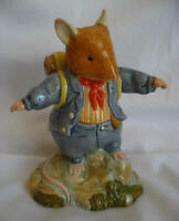 Royal Doulton - Brambly Hedge Mouse Mice Figurine - DBH 55 - Flax Weaver