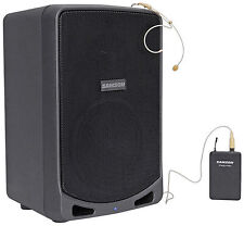 "SAMSON XP106WDE 6"" Portable Rechargeable Bluetooth Powered PA DJ Speaker+Headset"