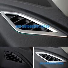 PM Matte Chrome Dashboard Console AC Air Vent Cover Trims for Mazda 3 Axela 2014