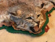 BOB CAT SKIN COUGER LYNX LION TIGER JAGUAR LEOPARD PANTHER BADGER WOLF TAXIDERMY
