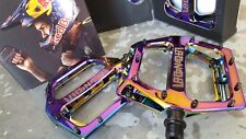 DMR Vault LACON Signature Pedals (NEW) BMX Mountain Bike   OIL SLICK - JET FUEL
