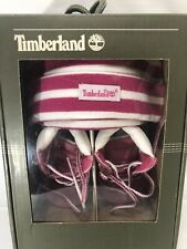 TIMBERLAND INFANT'S CRIB BT W/HAT MD PNK SIZE 1  3 to 6 months