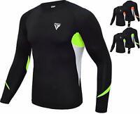 RDX MMA Rash Guard Armour Base Layer Compression Shirt Weight Loss Running Gym M