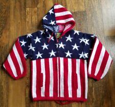 Tejidos Ruminahui US Flag Stars Stripes Wool Jacket Sweater Hoodie Men M