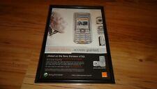 SONY ERICSSON K700i mobile phone-2004 framed original advert