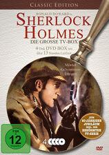SHERLOCK HOLMES 13 Horas LA GROSSE TV-BOX Serie de TV + BASKERVILLE 4 DVD nuevo