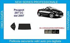 pellicole oscuranti vetri peugeot  207 cc dal 2007 in poi kit posteriore