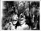 Japan Army old photo Imperial 1942 Pacific War Military Soldier Shade 2 people