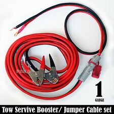 PROFESSIONAL 1 GAUGE - 24 FT QUICK DISCONNECT JUMPER-BOOSTER CABLE SET, TOW-SERV