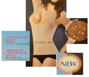 1x BEIGE Mieder Top Hemd Korsage Shapewear Bauchweg Taillenformer M/L