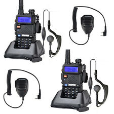 2X  Baofeng UV-5R Dual Band UHF VHF Walkie Talkies 2- Way Radio + Mic AU Stock