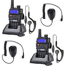 2X  Baofeng UV-5R Dual Band UHF VHF Walkie Talkies 2- Way Radio + Mic CA Stock