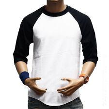 hombre cuello redondo camiseta manga corta Slim Casual Básico blusas de verano