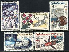 Czechoslovakia 2221-2225,MNH.Joint Chechoslovak-Soviet Space Flight,1st ann.1979