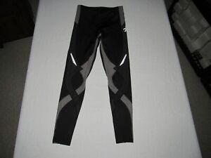 """CW-X Women's Black Athletic Compression Pants Size M Waist 24""""-26"""" Inseam 26"""""""