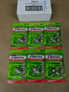 6 Pack Slime 4-Way Valve Core Removal Tool 2044A