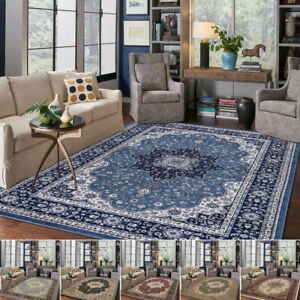 Floral Traditional Oriental Area Rug Classic Living Room Vintage Style Carpet UK