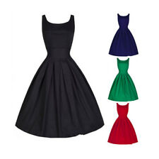 Women Ladies Solid Sleeveless Party Prom Evening Cocktail Vintage Summer Dress