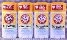 4 Arm & Hammer Essentials UNSCENTED Solid Deodorant 2.5 oz