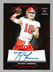 2021 LEAF TRINITY TREVOR LAWRENCE ROOKIE RED AUTOGRAPH RC AUTO #14/15 🔥🔥