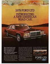 1979 Ford LTD Landau Red 4-door Sedan VTG PRINT AD