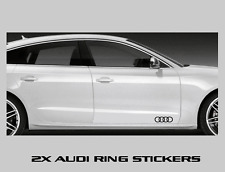 "2 Audi Rings Decal Sticker Logo Emblem 9"" A3 A4 A5 A6 A7 A8 S4 S5 S6"
