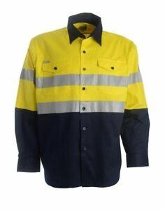 XAX Retrobreeze Lightweight 100% Cotton Long Sleeve Taped Work Shirt