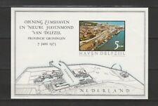 Nederland Blok Opening Eemshaven Delfzijl 1973 Ongetand Cinderella
