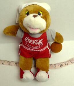 "Coca Cola ALL STARS Teddy Bear Vintage 1993 11"" Utah Jazz Basketball Game"