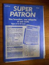 Patron Prima couture 8.87 / Brassière, saloptte et veste 6, 12, 18 mois