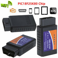ELM327 WiFi OBD2 II PIC18F25K80 Chip For iPhone Android PC Car Diagnose Scanner