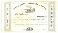 Un-Issued Share Certificate – Office Lavaca Navigation Company