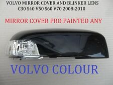 Volvo Wing Mirror COVER+ LENS S40 V50 C30 S60 V70 RIGHT ANY VOLVO COLOUR
