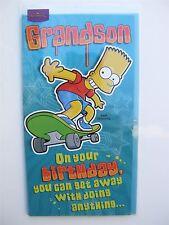 SIMPSONS Bart Skate Boarding cartolina di compleanno per un nipote da Hallmark - 11055007