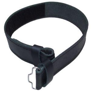 Scottish Highland Black Leather Kilt Belt without Buckle Sizes Small to 3XL