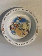 Vintage 1984 Avon Ceramic Child's Bowl Hey Diddle Diddle Nursery Rhyme