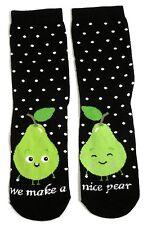 Ladies facciamo un bel paio di Pere (di piedi) frutta Calzini UK 4-8 EUR 37-42 USA 6-10