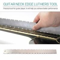 Guitar Neck Notched Straight Edge Luthiers Tool for Most Electric Guitars sW