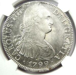 1799-MO Mexico Charles IV 8 Reales Coin (8R) - Certified NGC AU58 - Rare!