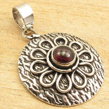 "Online Store ! Price Start From $0.99 ! GARNET Pendant 1.3"" 925 Silver Plated"