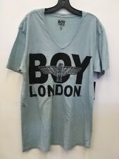 BOY London big v neck sz xl NEW Mens T-shirt Light Slate Gray
