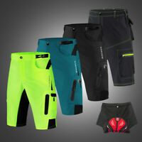 Men's Baggy Cycling Shorts Riding MTB Bike Padded Underwear Bicycle Half Pants