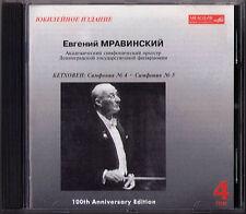 Evgeny MRAVINSKY: BEETHOVEN Symphony No.4 5 Leningrad Philharmonic MELODIYA CD