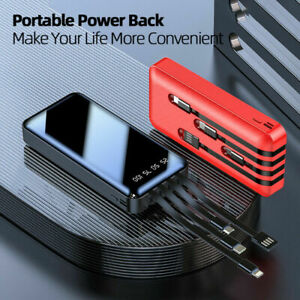 20000mAh Backup External Battery USB Power Bank Pack Charger for Cell Phone