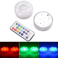 IR Remote Control SMD5050 RGB Submersible LED Lights AAA Battery Operated LD841