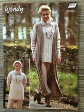 """Wendy Knitting Pattern: Ladies Sweater & Longline Waistcoat, DK, 32-46"""", 4235"""