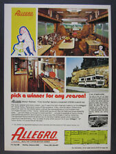 1978 Allegro 27 Motorhome RV color photos vintage print Ad