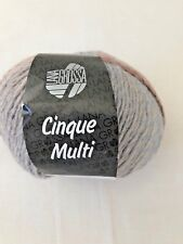 LANA GROSSA CINQUE MULTI - WORSTED WT - WOOL/ACRYLIC YARN CLR- BLUE/GRAY/BROWN